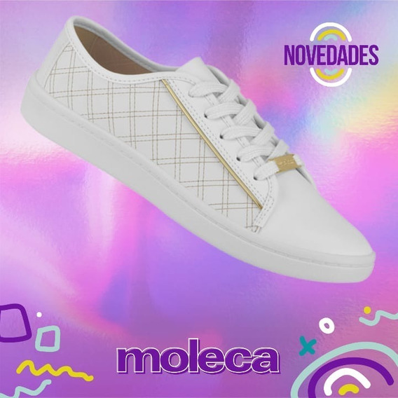 Zapatilla Moleca 5657 Base Confort Negra Blanca New 2020