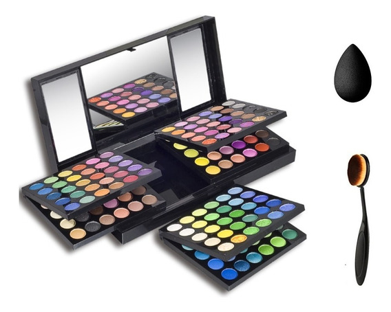 Cofre Maquillaje Paleta De Sombras Profesional 180 Colores