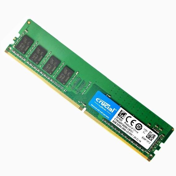 Memoria Ram Crucial 8gb Ddr4 Pc 2666 Mhz