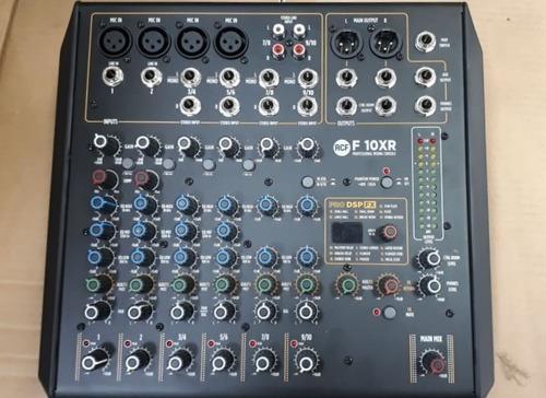 Mesa De Som Rcf F10 Xr C/ Interface De Audio Integrado