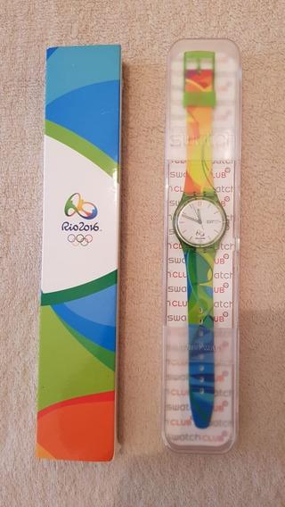 Relógio Swatch Novo Voluntários Olimpíadas Rio 2016 Fret Gra