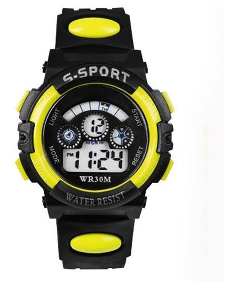 Relógio Digital Criança Infantil Resistente Modelo G-shock