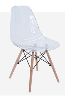 Silla Estilo Eames Transparente Diseñador