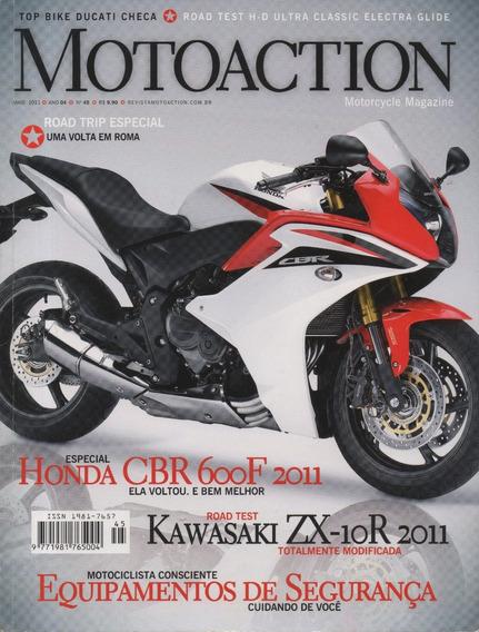 Motoaction N°45 Honda Cbr 600f Kawasaki Zx-10r Harley Ultra
