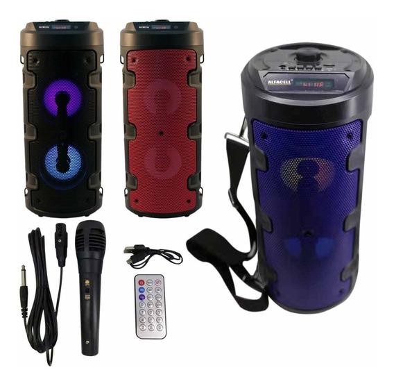 Caixa De Som Portátil Bluetooth Bateria Usb Com Microfone