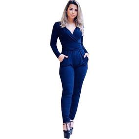 c58ca58fa5 Macacão Tamanho U U para Feminino Azul marinho no Mercado Livre Brasil
