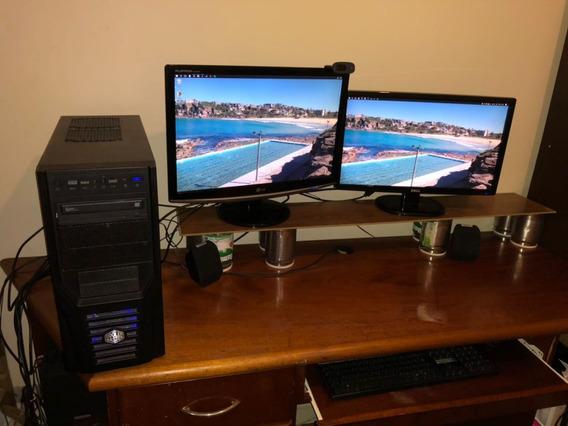 Super Computador Gamer I7 Gtx970 16gb Ddr4 C/ 2 Telas E Som