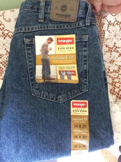 Pantalon Wrangler Azul Talla 34 X 30 Traido Desde Usa