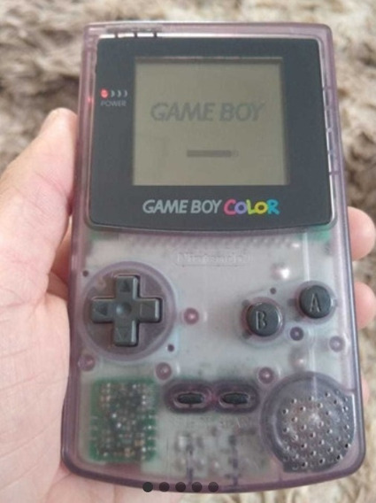Game Boy Color Roxo Translucido Ou Transparente