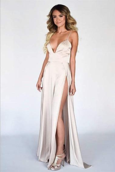 Vestido De Raso Saten Con Lycra Sexy