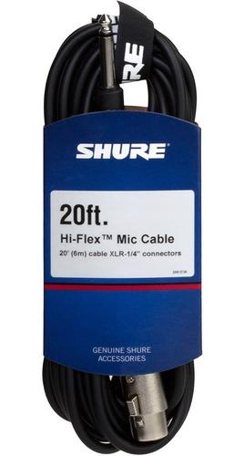 Imagen 1 de 2 de Shure C20ahz Cable Xlr Plug De 6 Metros