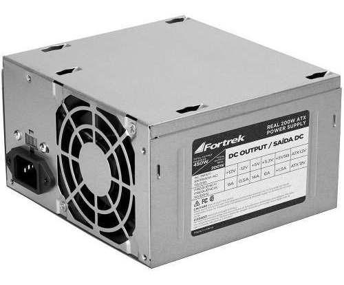 Fonte Atx 20+4p 200w Até 450w Real Máximo Bivolt Desktop