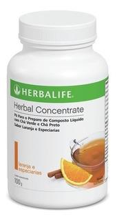 Chá Verde Herbalife 100g - Sabor Laranja - Produto 100% Original