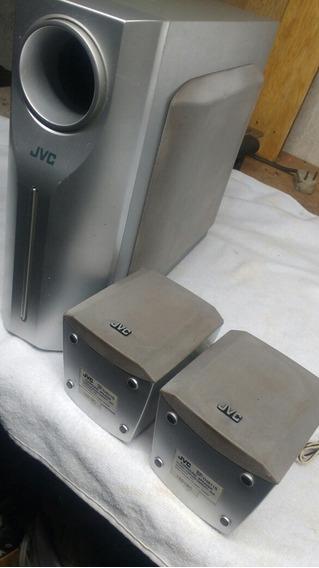 2 Mini Caixas Home Jvc Surround Spaker