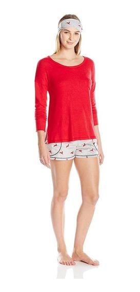 Pijama Kensie 3 Set Piyama De Dormir Eyemask Boxer Mujer