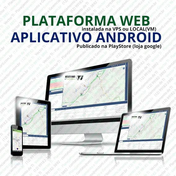 Plataforma Rastreador Instalado + App Android Personalizado