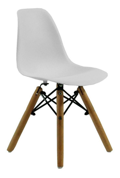 Cadeira Byartdesign Charles Eames Dkr Wood Kids Branco