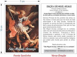 Santinho São Miguel Arcanjo (milheiro Oração)