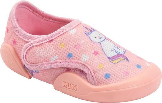 Sapato New Confort Klin Menina Estampado Brilho