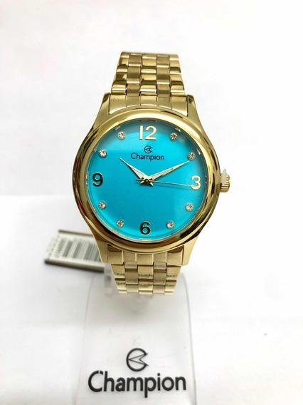 Relógio Champion Feminino Dourado Cn28991y