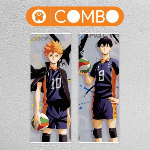 Imagen 1 de 5 de Lona Haikyuu Hinata Y Kageyama Combo - Animeras
