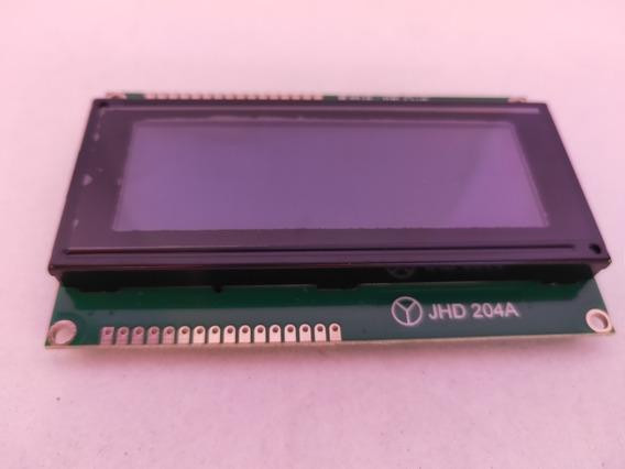 Lcd Display 204a Dupla Pinagem Backlight Azul Escrita Branca