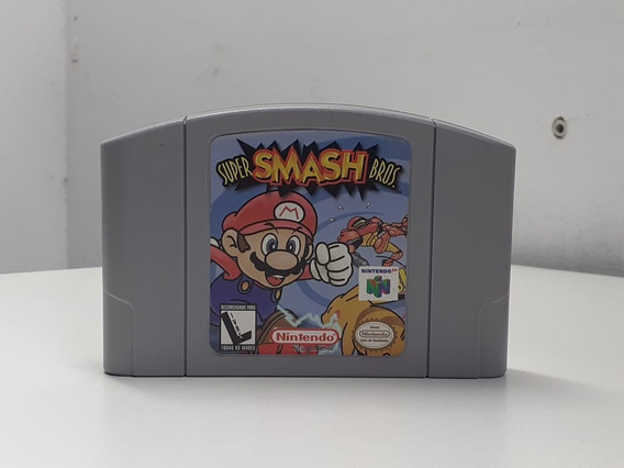 Super Smash Bros Original Nintendo 64 - Original Com Manual