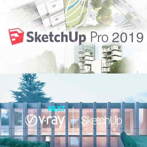 Sketchup Pro 2019 + V-ray 4.0 Next (completo)