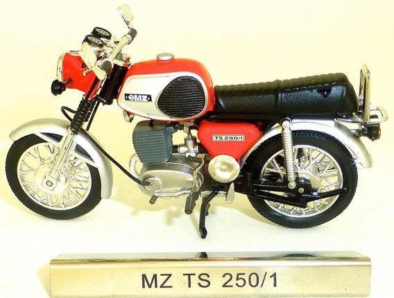 Miniatura Moto Mz Ts 250 - Escala 1:24 Na Caixa - Raridade !