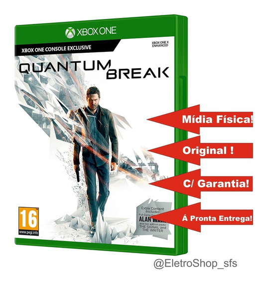 Quantum Break Xbox One Mídia Física Em Portugues Br Original