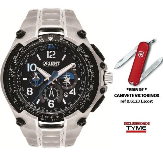 Relógio Orient Flytech 10 Anos Titânio Mbttc016 P2sx +brinde