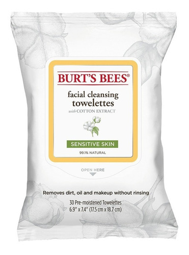 Toallitas Desmaquillantes Burt's Bees Sensitive