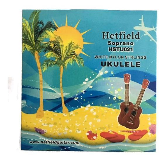 Cuerdas Para Ukelele Soprano Encordado Hetfield Hstu021