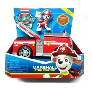 Paw Patrol Marshall Vehiculo Camion De Bomberos Fire Engine