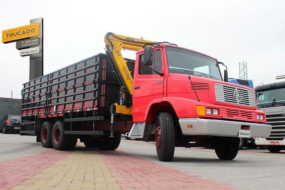Truck Mb 1621 1992 6x2 Munck E Carroceria Para Grãos