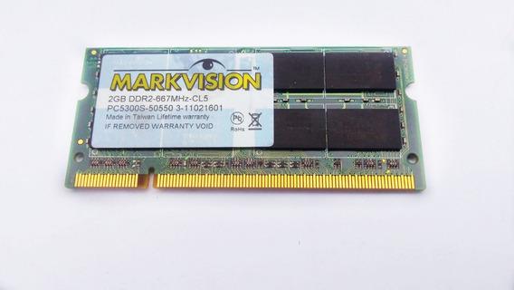 Memória Ram 2gb Ddr 2 - 667 Mhz Markvision - Usada