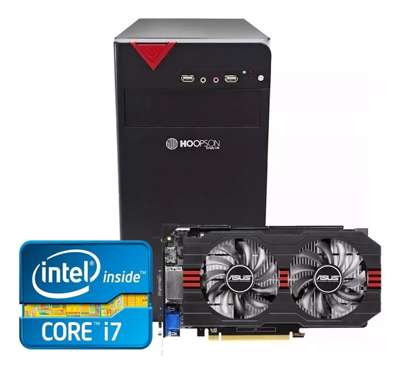 Pc Gamer Core I7 + Gtx 1050ti 4gb + 8gb Memória + Ssd 240gb