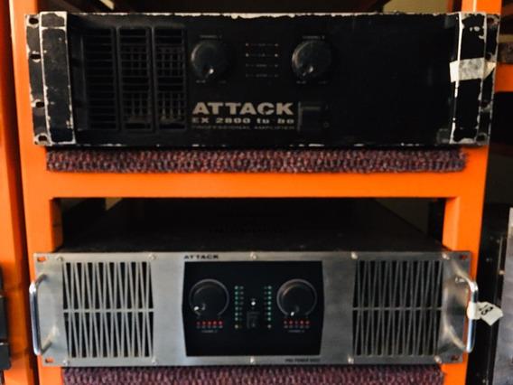 Amplificador Potencia Attack Pp 6002 - 12 X Sem Juros