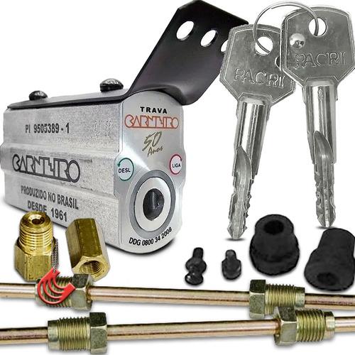 Imagem 1 de 6 de Trava Carneiro Chave Pacri + Kit Instalação - Corta Ignição
