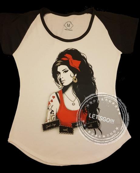 Amy Winehouse Remera Manga Corta Mujer