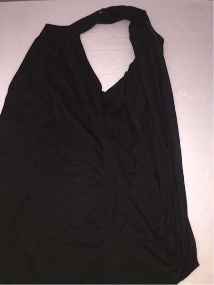 Vendo Remera De Seda Negra Cruzada En La Espalda Zara