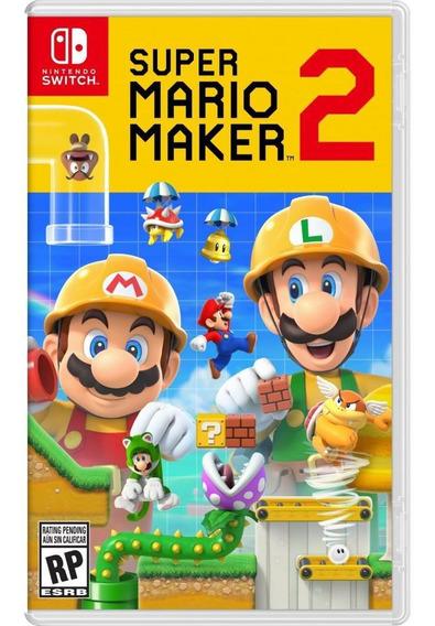 Super Mario Maker 2 Switch Mídia Física Novo Original