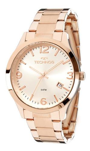 Imagem 1 de 4 de Relógio De Pulso Feminino Technos 2315acj Ouro Rosé