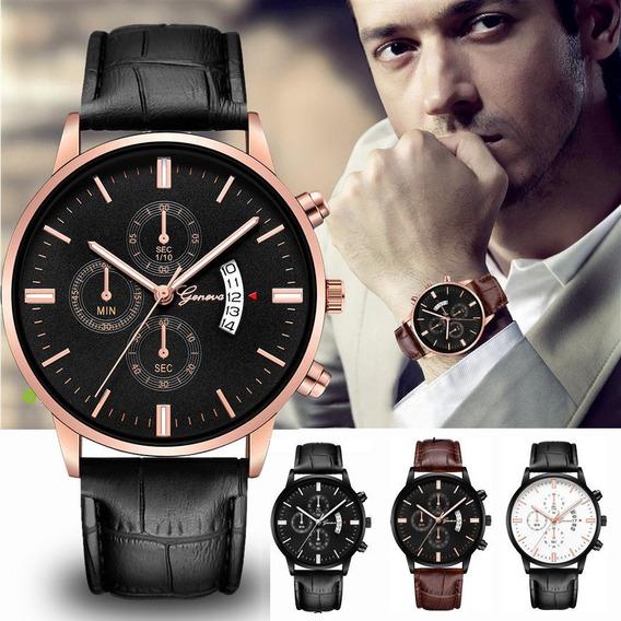 4 Relógio Masculino Barato Geneva Kit Unds Super Promoção