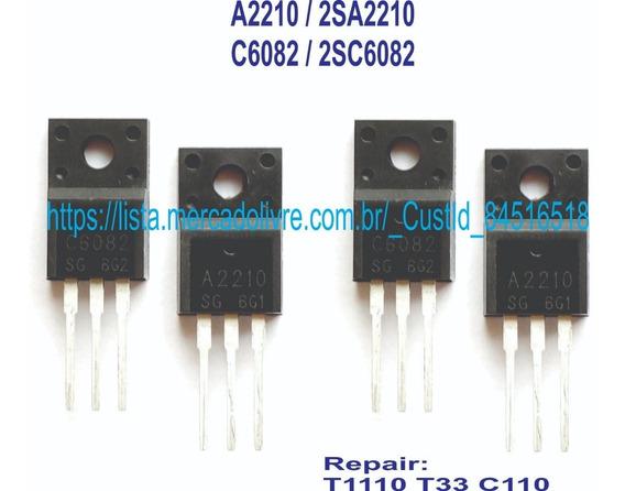 2 Pares Transistores Epson T1110 T33 C110 A2210 C6082