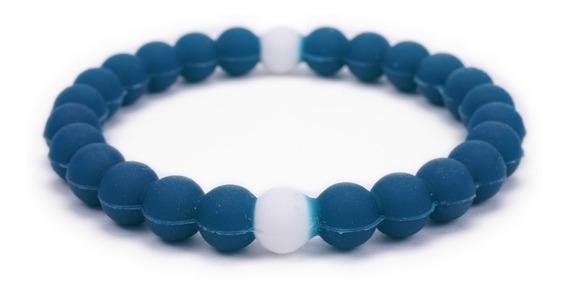 Brazalete Elástico Tipo Lokai Azul