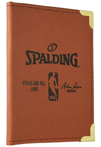 Carpeta Anotador Spalding Basquet Entrenador Cuero Nba Cke