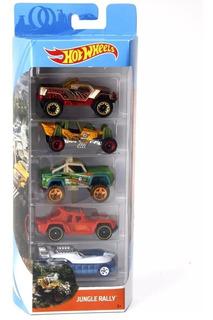 Carrinhos Hot Wheels - Pack Com 5 Unid Jungle Rally Mattel