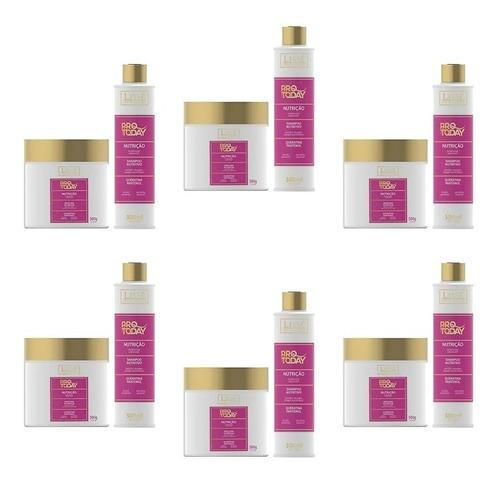 Imagem 1 de 5 de 6 Kits Nutrição Lissé Shampoo 300ml + Máscara 500g