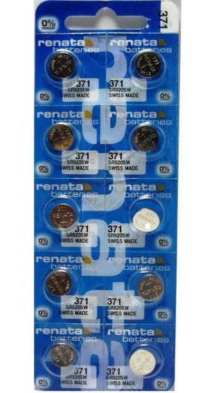 10 Baterias Pilas Renata 371 O Sr920sw Especial Para Reloj
